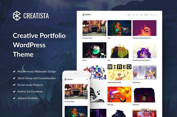 Creatista: Portfolio WordPress Theme