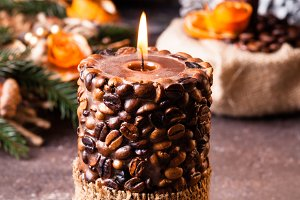 Christmas aromatic candle