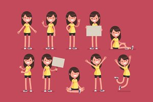 Sport Girl collection: Yellow outfit