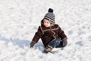 Winter portrait of boy