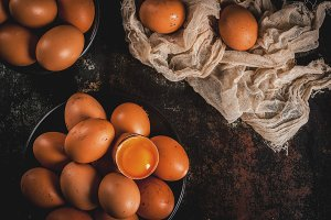 Organic farm chicken eggs