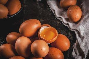 Organic farm chicken eggs