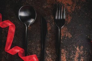 Silverware set for Christmas