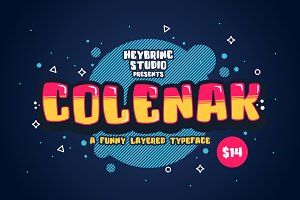 Colenak - Funny Layered Typeface