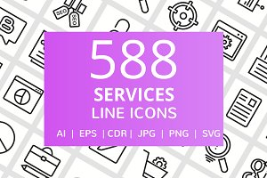 588 Services Line Icons