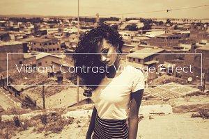 Vibrant Contrast Vintage Effect