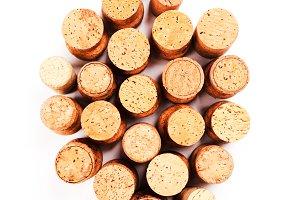Wine corks isolated