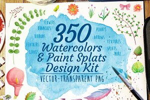 Watercolor Design Kit