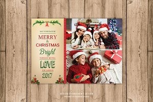 Bright Christmas Card Template