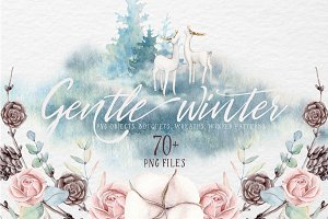 GENTLE WINTER watercolor collection