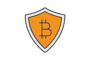 Safe bitcoin payments color icon