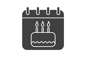 Birthday glyph icon