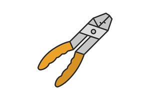 Combination pliers color icon