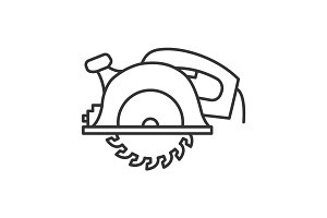 Circular saw linear icon