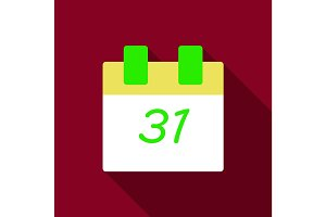 Flat Icon with shadow calendar