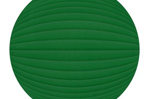 green plastic sphere isolated over white