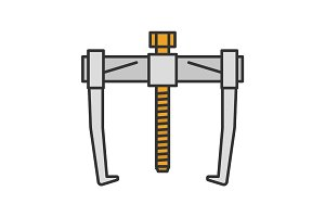 Bearing puller color icon