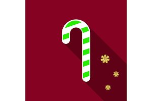 Flat Icon with shadow christmas candy