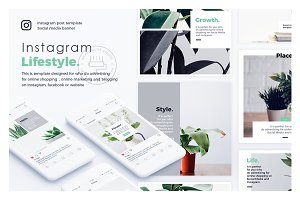 Lifestyle Instagram Posts Template