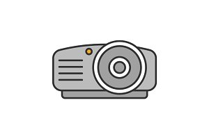 Projector color icon