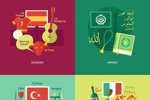 Flat Languages Education Concepts