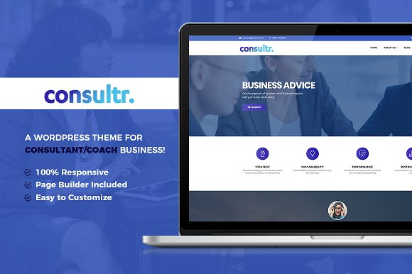 Consultr - Consultant/Coach WP Theme