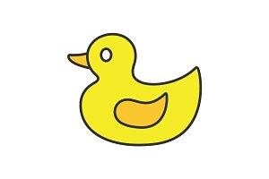 Rubber duck color icon