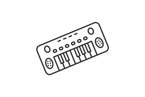 Toy piano linear icon