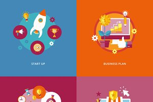 Flat Business and Finance Icons Set