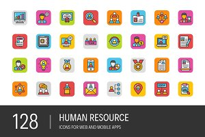 128 Human Resource Icons
