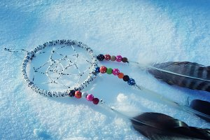 Dreamcatcher on the snow