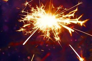 Festive New Year firework