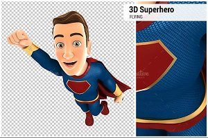3D Superhero Flying