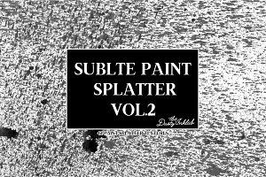 Subtle Paint Splatter Vol. 2