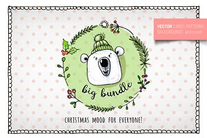 Big Hand Drawn Christmas Bundle