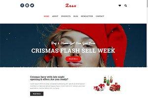 Zesu - ChristmasProduct Landing Page