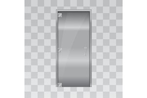 aluminium door and chrome door