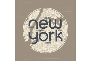 New York t-shirt and apparel vector design, print, typography, p