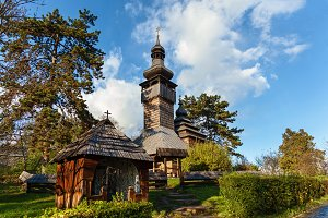 old wooden orthodox churches