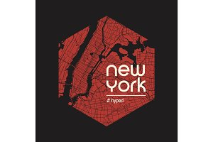 New York hyped t-shirt and apparel vector design, print, typogra