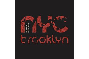 New York Brooklyn t-shirt and apparel vector design, print, typo