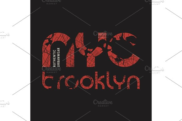 New York Brooklyn T-shirt And Apparel Vector Design Print Typo