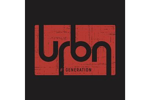 Urban generation . T-shirt and apparel vector design, print, typ