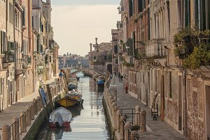 Quiet canal in Venice