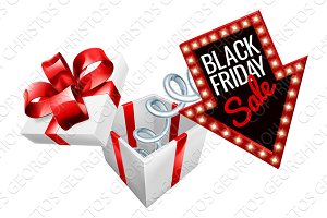 Black Friday Box Spring Sale Sign