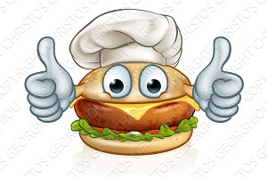 Cartoon Character Burger Food Mascot