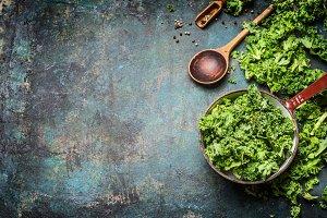 Kale cooking preparation