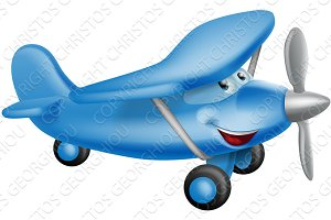 Cute airplane cartoon character