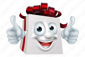 Gift Present Cartoon Character