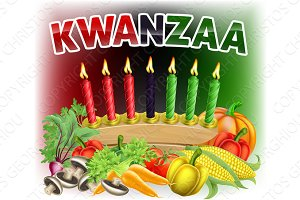 Happy Kwanzaa First Harvest Design